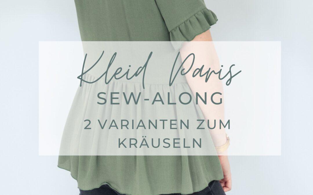 Sew-Along Kleid Paris – Tipps zum Kräuseln