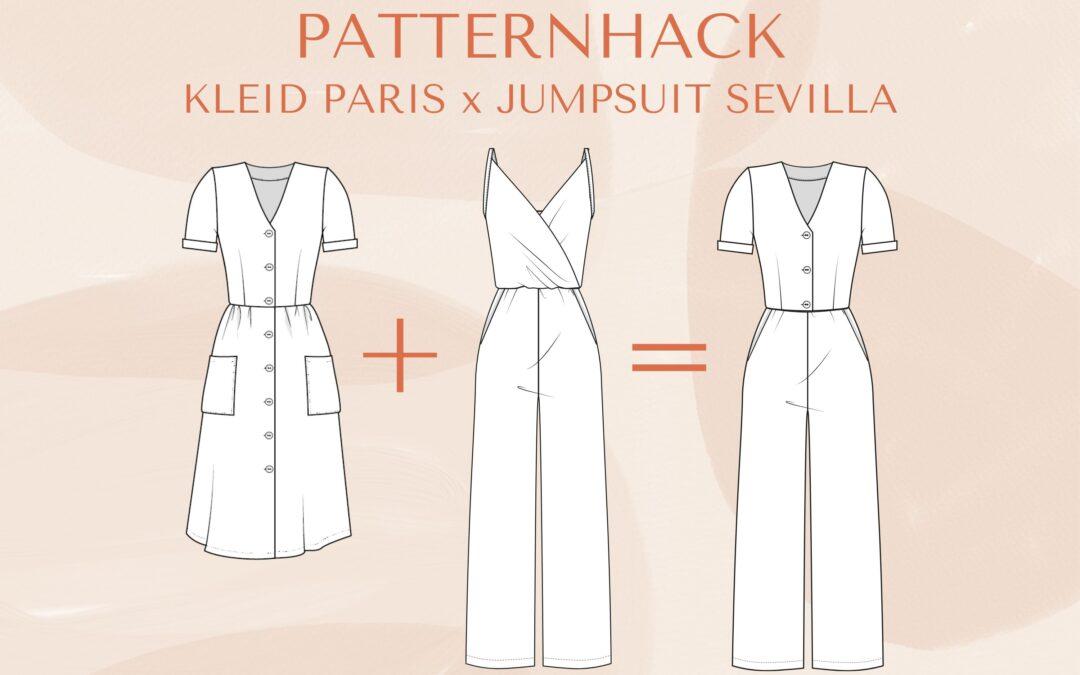 Patternhack Kleid Paris x Jumpsuit Sevilla