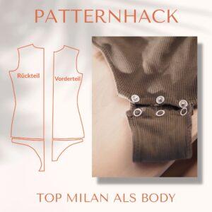 Patternhack Top Milan als Body